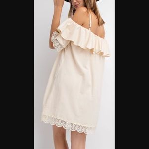 Wife of Eric Tops - Hemp and Cotton Blend Lace Tunic Dress NWT